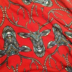 LuLaRoe - Sz XL Mosaic Deer Maxi Skirt UNICORN 🦄